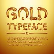 Vector gold typeface Stock Illustration