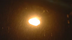 A street light with a large lense flare stock video footage Stock Footage