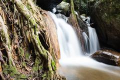 Waterfall in the forest at Mae Kampong village Chiang Mai, Thailand Stock Photos