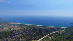 4K Aerial View of Cirali Village and Sea.Captured by Drone Cam in Antalya Turkey Stock Footage