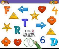 Preschool activity for kids Stock Illustration