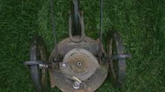 Lawn mower [gimbal] top view Stock Footage