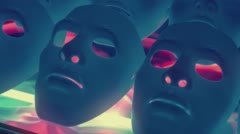 Theatrical mystery mask - stock footage