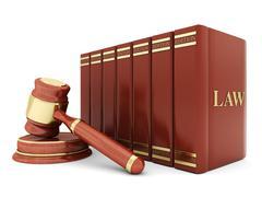 Beautiful image of judicial attributes Stock Illustration