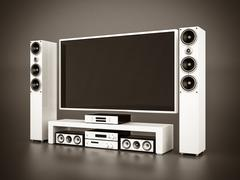 Modern home theater Stock Illustration