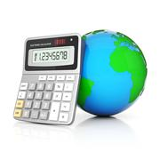 Modern office calculator Stock Illustration