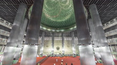 Istiqlal Mosque in Jakarta is one of the largest mosques in Southeast Asia - the - stock footage