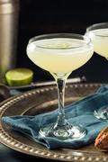 Alcoholic Lime and Gin Gimlet Stock Photos