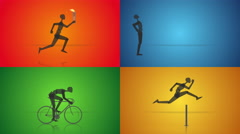 Olympic games 2016 theme animation set. Loopable. Stock Footage
