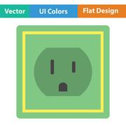 Electric outlet icon Stock Illustration