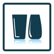 Two glasses icon Stock Illustration