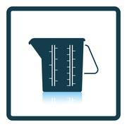 Measure glass icon Stock Illustration