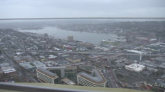 Seattle City view from Space Needle Observatory Stock Footage