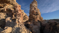 Tufa Towers at Mono Lake slow dolly shot - stock footage