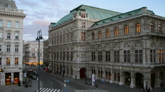 View of State Opera in Vienna, Austria Stock Footage