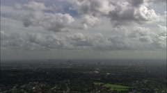 Big Wide Shots Of London From West With Clouds - stock footage