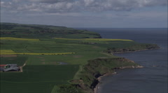 Coast North Of Scarborough Stock Footage