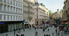 Vienna Graben street during the day Stock Footage