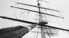 Mast of a tall ship Stock Photos