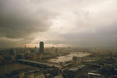 The Thames from the top of St. Paul's Cathedral Stock Photos