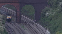 Express Train Approaching Didcot Stock Footage