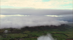 Wide Of Black Combe Hill Shrouded With Clouds Stock Footage