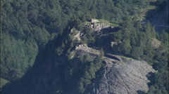 Cs Castle Crag And Pull Out From 5000Ft Stock Footage