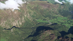 Castle Crag And End Of Derwent Water From 5000Ft Stock Footage