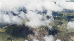 Mountain Obscured By Cloud From 5,000Ft With Crummock Water Behind Stock Footage