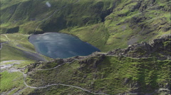 Scales Tarn With Sharp Edge In F/G Stock Footage