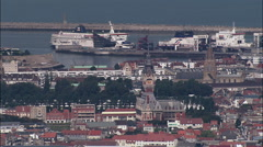 Calais And Harbour Stock Footage