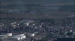 Oil Refinery aerial Stock Footage