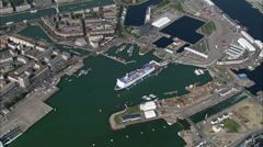 Le Havre Port And Harbour Stock Footage