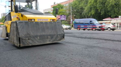 Kyiv, Ukraine Jul 2016: Road Paving, construction. Stock Footage