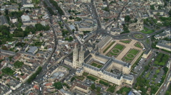 Caen aerial Stock Footage