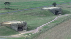 Wwii Bunkers Stock Footage