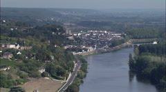 Chateau De Chinon Stock Footage