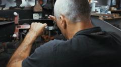 RAMAT GAN, ISRAEL, JULY 21 2016. Diamond polisher during work Stock Footage