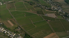 High Over Vouvray Vineyards Stock Footage