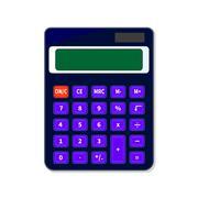 Calculator isolated on white background Stock Illustration