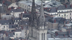 Angers aerial Stock Footage