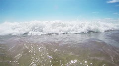 Sea, Waves, A Beach Stock Footage