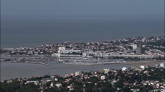 Royan aerial Stock Footage