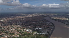 Bordeaux aerial Stock Footage