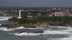 Biarritz Lighthouse Stock Footage