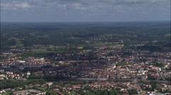 Bergerac aerial Stock Footage