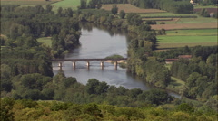 Dordogne River At Siorac-En-PeRigord Stock Footage