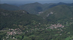Approaching The High Pyrenees Over Galie Stock Footage