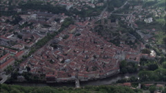 Foix aerial Stock Footage