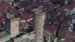 Chateau De Foix Stock Footage